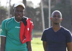 Harambee Stars coach Stanley Okumbi and FKF President Nick Mwendwa