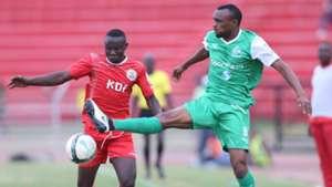 Gor Mahia striker Jacques Tuyisenge v Cylus Shitote of Ulinzi Stars