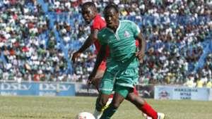 Edwin Wafula of AFC Leopards challenges Godfrey Walusimbi of Gor Mahia