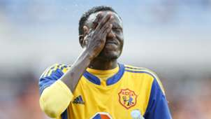 Michael Birungi of KCCA FC cools down during their CECAFA-Kagame club tournament match against Azam FC