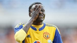 Michael Birungi of KCCA FC cools down during their CECAFA-Kagame club tournament match against Azam FC
