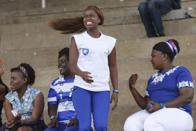 AFC Leopards fans react after Meshack Karani scored the second goal for Chemelil at City Stadium