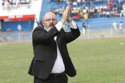 Harambee Stars coach Bobby Williamson after Zambia match on Sunday