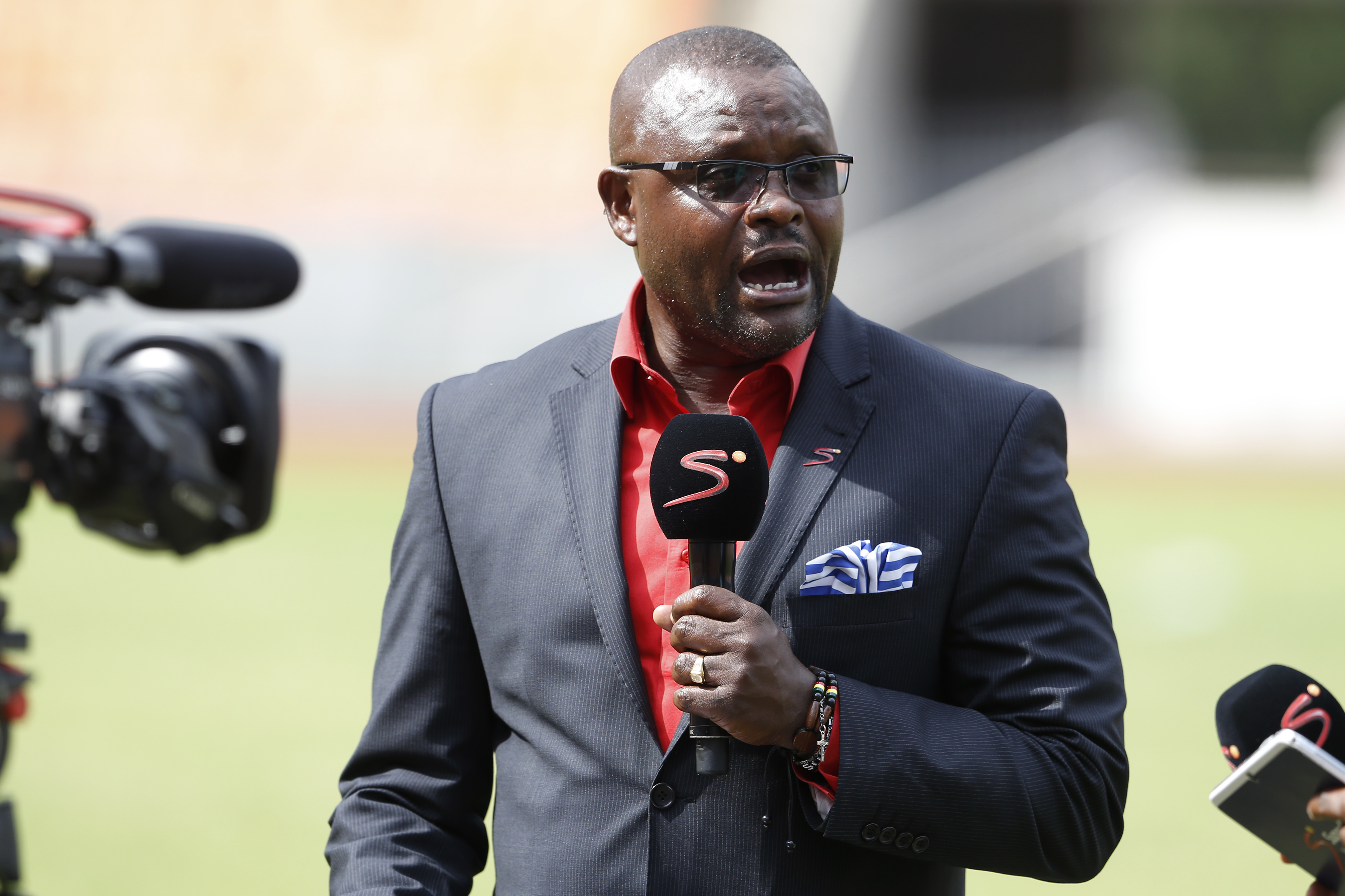 Former Harambee Stars coach Jacob 'Ghost' Mulee commentating at on-goingCecafa Cup