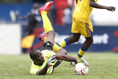 Nakumatt FC goalkeeper Wycillife Kasaya in a past action