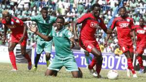 Gor Mahia defender Harun Shakava in action against AFC Leopards