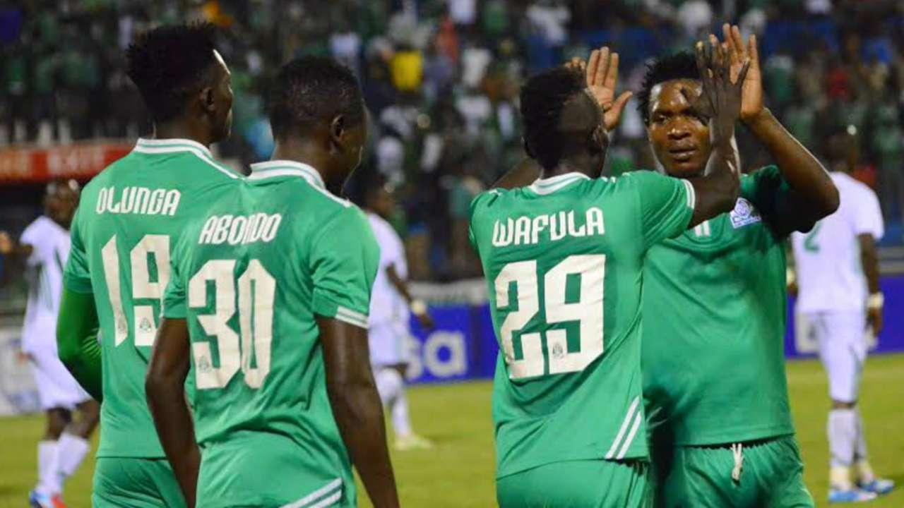Gor Mahia players celebrate against Sony Sugar