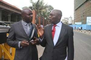 Kenya Premier League Limited officials - Jack Oguda and Ambrose Rachier