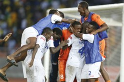 Azam FC players celebrate winning their match against Young Africans SC