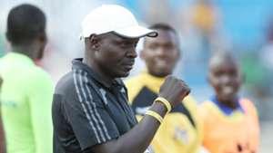 Muhoroni Youth coach Tom Juma follows proceedings at Nyayo Stadium