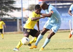 Tusker's Danson Kago v Dennis Odhiambo of Thika United