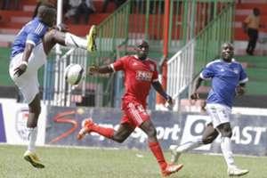 Posta Rangers striker Dennis Mukaisi v City Stars