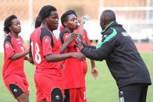 Harambee Starlets coach David Ouma
