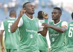 Defender Haroun Shakava celebrates putting Gor Mahia ahead against a stubborn City Stars