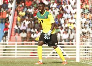 Goalkeeper Arnold Origi reacts as Harambee Stars lose to Zambia's Chipolopolo on Sunday