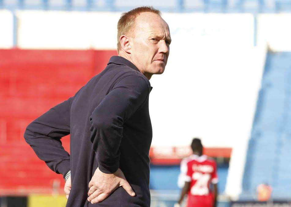Gor Mahia coach Frank Nuttall during their match against Posta Rangers