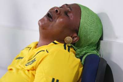 A Yanga FC fan could not hold tears any more after Azam FC won on penalties