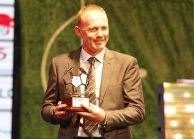 Gor Mahia coach Frank Nuttall was voted the best for 2015 season