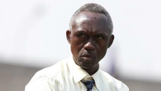 Western Stima coach Henry Omino in a past league match