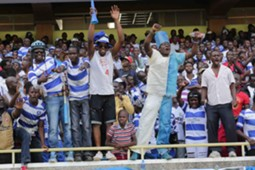 AFC Leopards fans at Kasarani Stadium