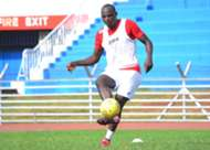 GUESS WHOSE BACK...Harambee Stars striker Dennis Oliech trained with the team at Nyayo