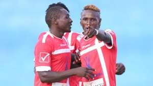 Western Stima striker Kennedy Otieno celebrates against Gor Mahia