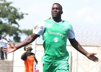 Gor Mahia midfielder Khalid Aucho celebrates