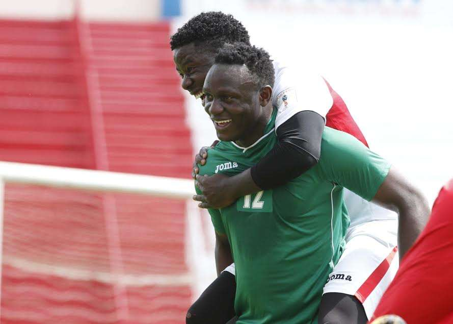 Victor Wanyama trained with the squad which included striker Allan Wanga of Azam FC