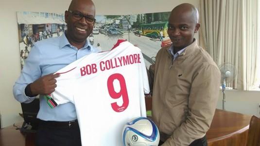 FKF President Nick Mwendwa and Safaricom CEO Bob Collymore