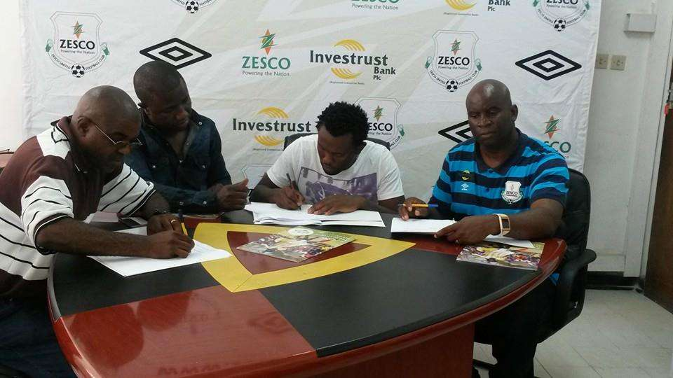 Former Gor Mahia defender David 'Calabar' Owino has penned a two year deal with Zesco United