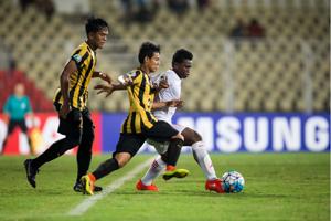 Malaysia U16 in action against Oman U16