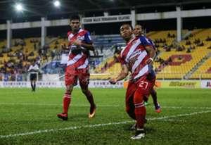Kuala Lumpur's Hafiz Johar (no. 27) celebrating his goal against Perlis 22/7/2016
