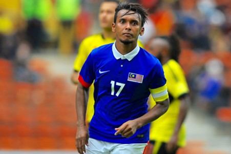 Malaysia's Amri Yahyah after scoring against Papua New Guinea 14/11/16