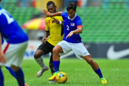 Malaysia's Matthew Davies in action against Papua New Guinea 14/11/16