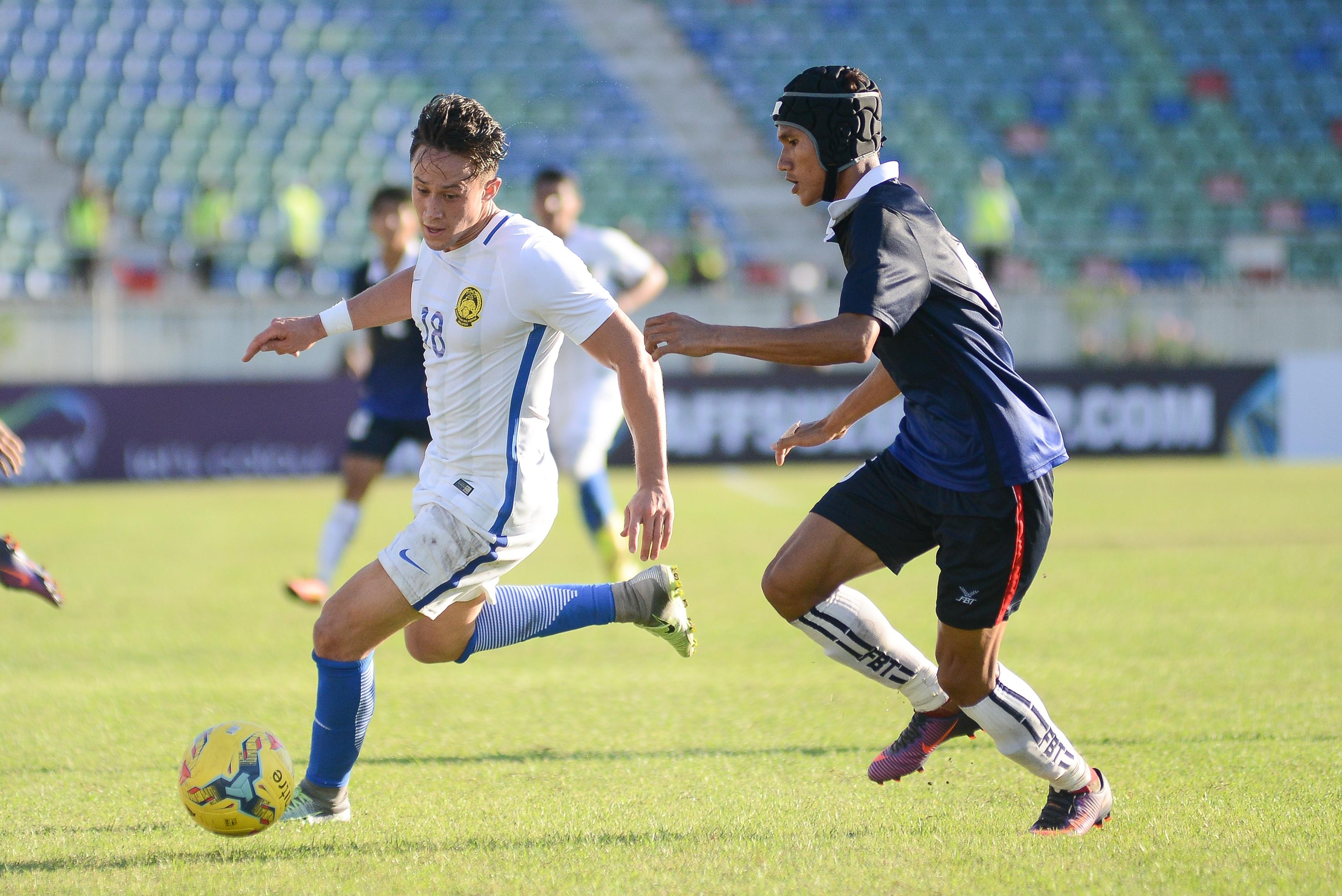 Darren Lok in the Malaysia v Cambodia match - 2016 AFF Suzuki Cup 20/11/16