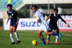 Matthew Davies in the Malaysia v Cambodia match - 2016 AFF Suzuki Cup 20/11/16