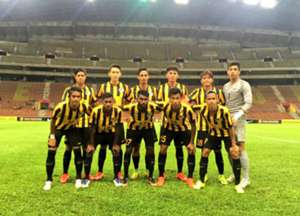 Malaysia U22's first XI against Bahrain U22 30/8/2016