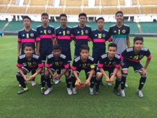 NFDP Malaysia U14 starting lineup against FC Bari 2016