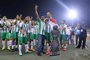 Melaka United players celebrating their Premier League title win 9/9/2016