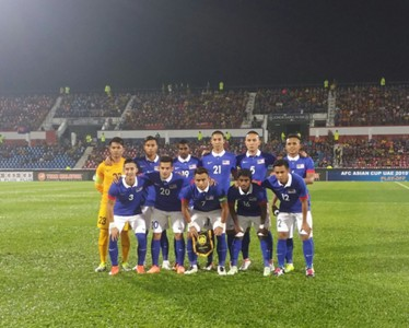 Malaysia before their Timor Leste match 2016
