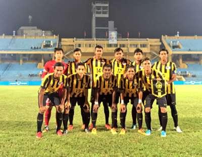 Malaysia U19's first XI against Vietnam U19 19/9/2016