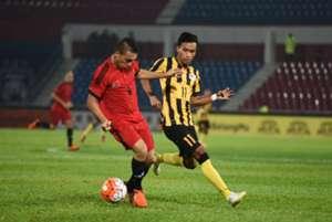 Timor Leste's Junior Aparecido (left) and Malaysia's Baddrol Bakhtiar 2016