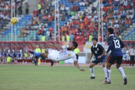 Safee Sali in the Malaysia v Cambodia match - 2016 AFF Suzuki Cup 20/11/16