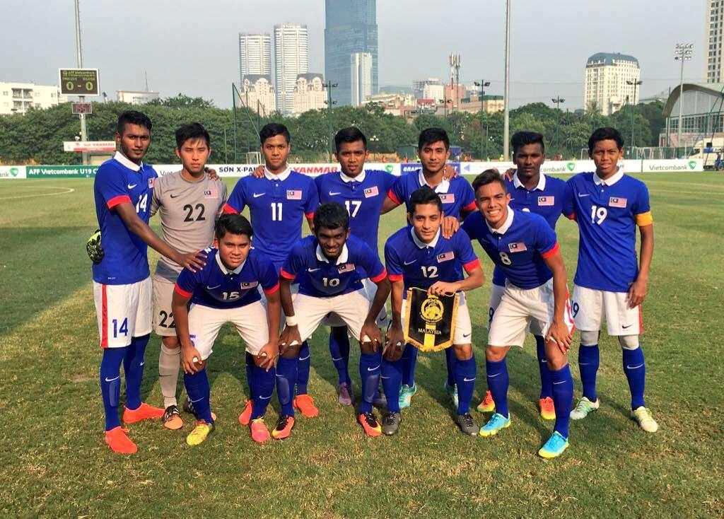 Malaysia U19's starting lineup against Timor Leste U19 17/9/2016