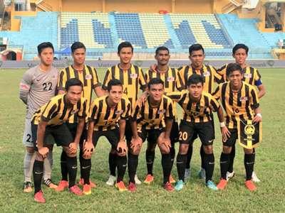 Malaysia U19's starting XI against Singapore U19 15/9/2016