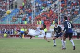 Safee Sali attempting a scissors kick against Cambodia in the 2016 AFF Suzuki Cup 20/11/16