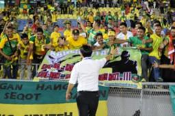Kedah fans and head coach Tan Cheng Hoe 15/10/2016