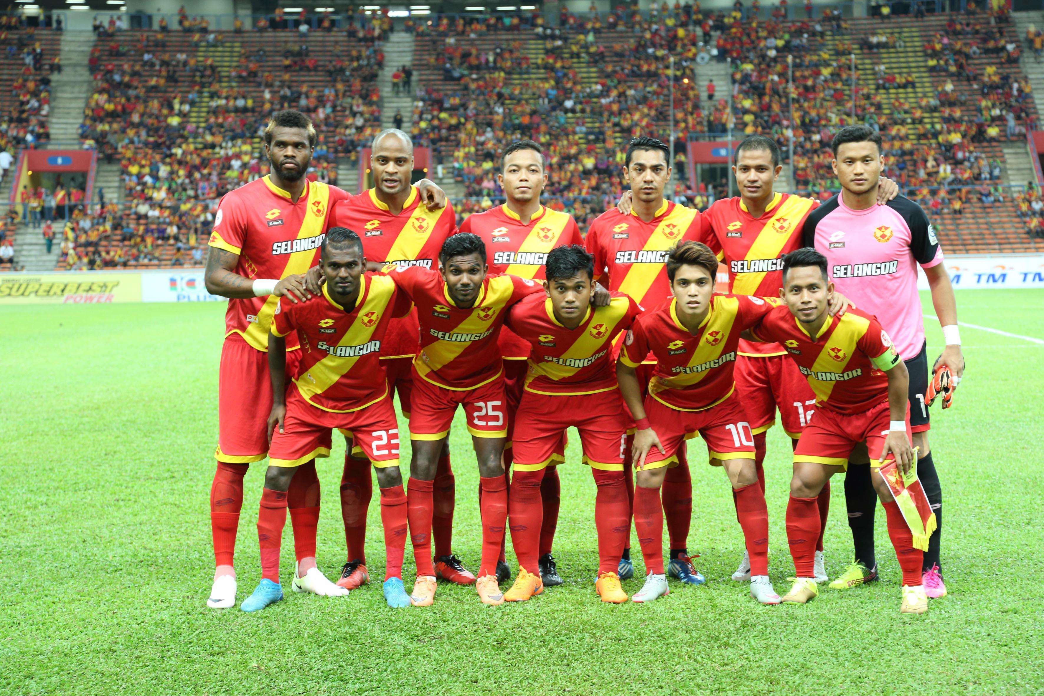 Selangor's line-up against PKNS 17/09/16