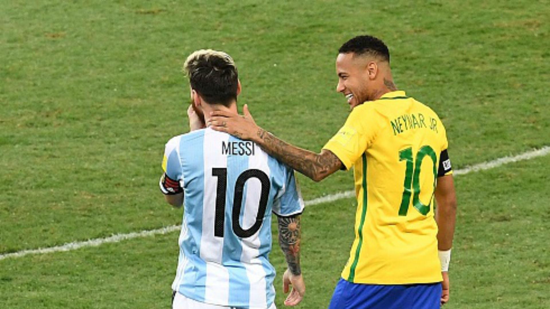 Brasil Argentina Eliminatorias CONMEBOL Rusia 2018 Mineirao 10112016 Lionel Messi Neymar Jr.
