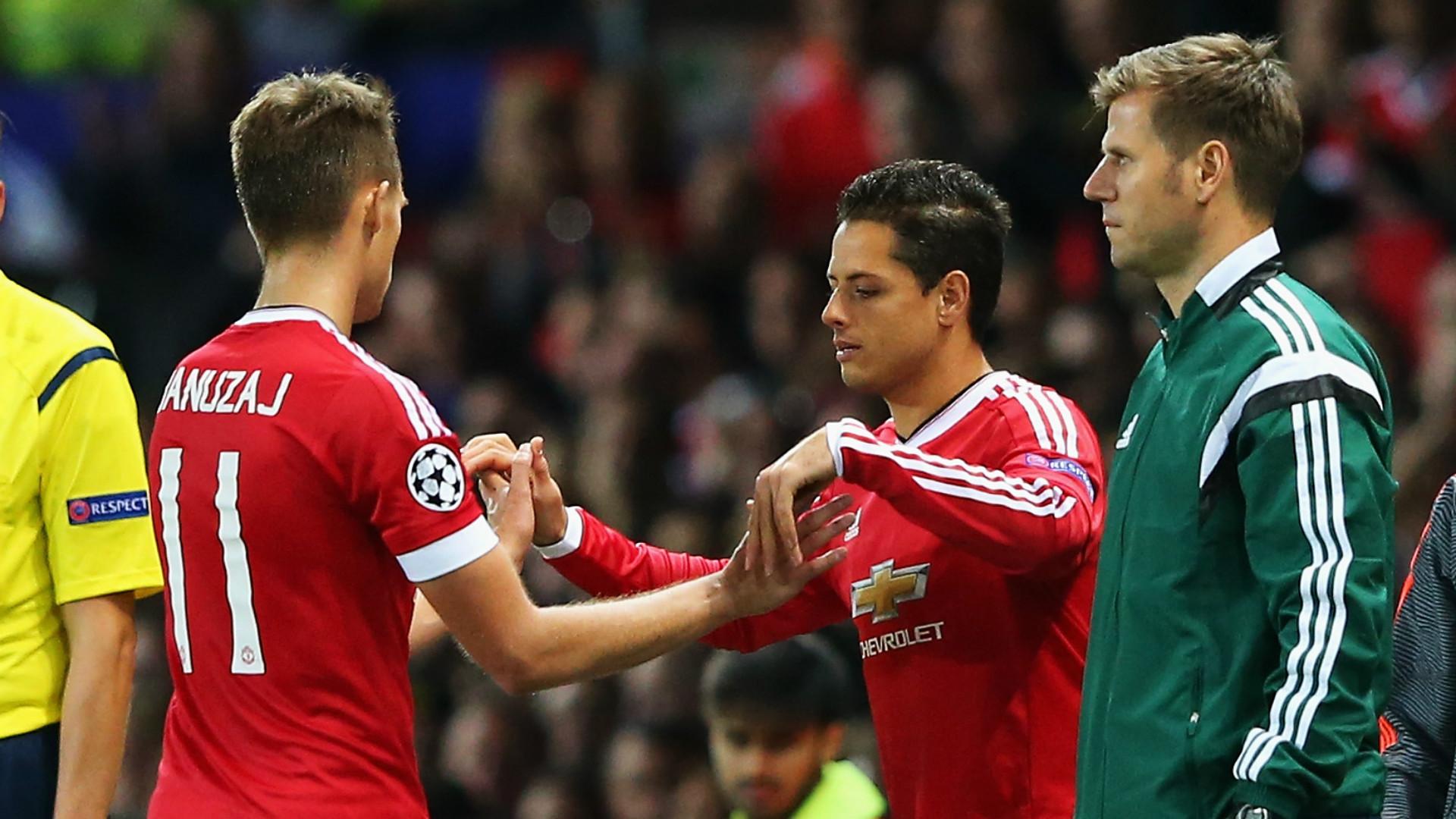 Javier Hernandez Manchester United vs Brugge Champions League 08182015